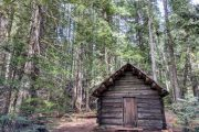Longmire cabin at Mount Rainier National Park on a day tour from Seattle