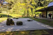 Japanese rock garden at Bloedel Reserve on a Bainbridge Island day tour from Seattle