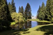 Manor house and gardens at Bloedel Reserve on a Bainbridge Island day tour from Seattle